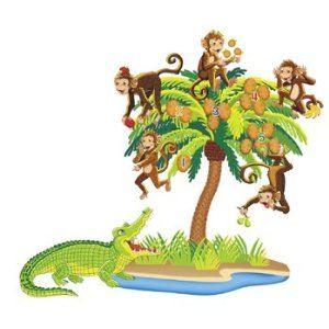 Monkeys and Alligator