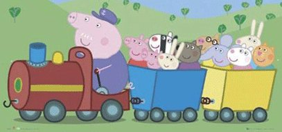 Peppa Pig on the train