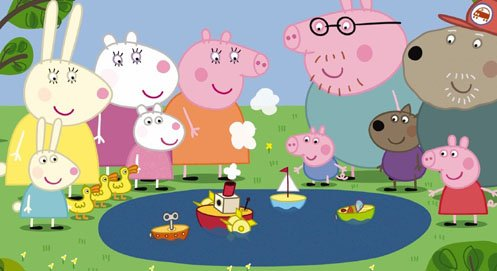 Peppa Pig with friends