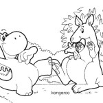 Coloring page: Gogo, koala, kangaroo
