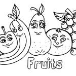 Funny fruits with faces
