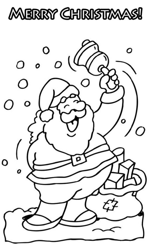 Christmas card раскраска
