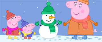 Peppa Pig. Snow. video