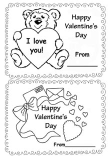 Cards for kids. Valentine's Day.