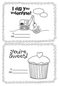 Den svyatogo valentina. Raskraski-pozdravleniya