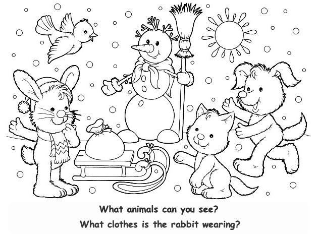 Раскраски загадки зима