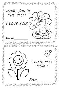 Pozdravitelnaya raskraska 8 marta mama