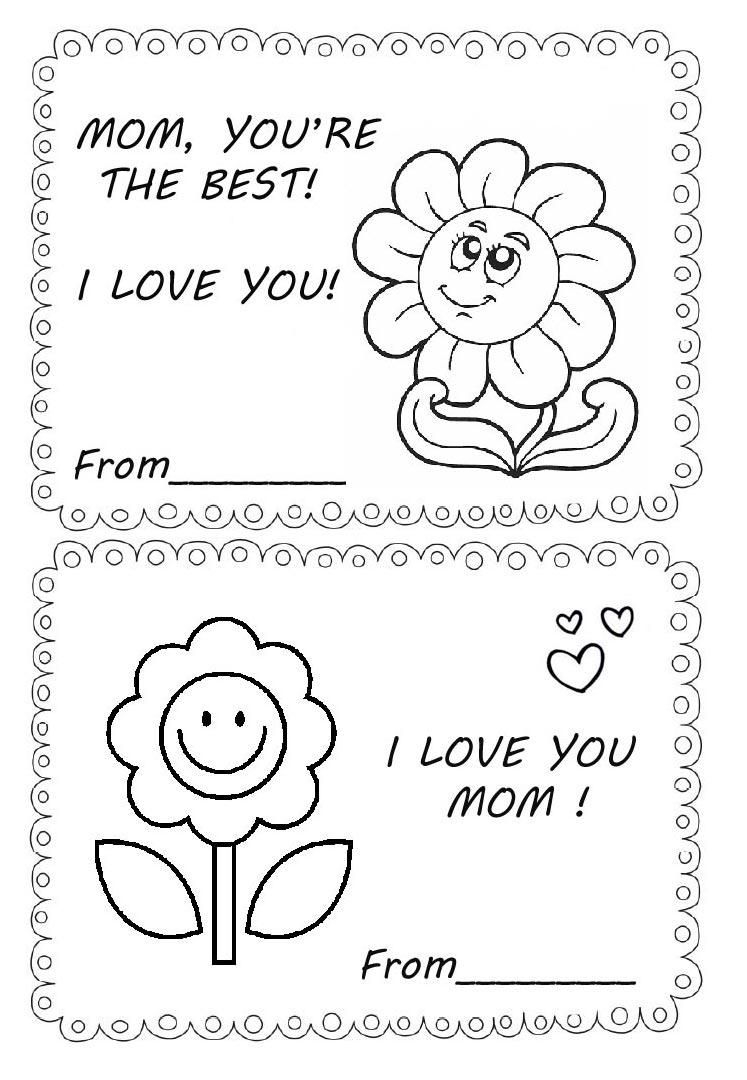 Раскраска для открытки