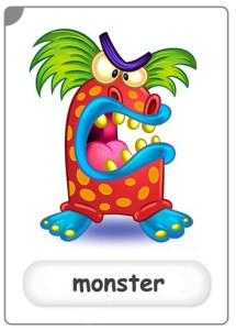 monster flashcard