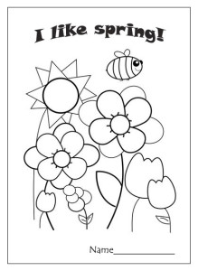 I like spring coloring page