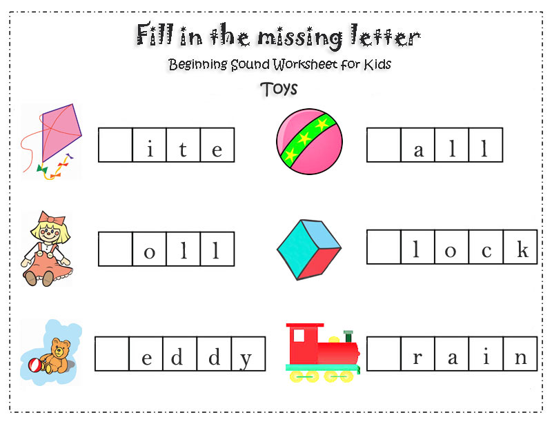 Fill-in-the-missing-letter-Toys for kids
