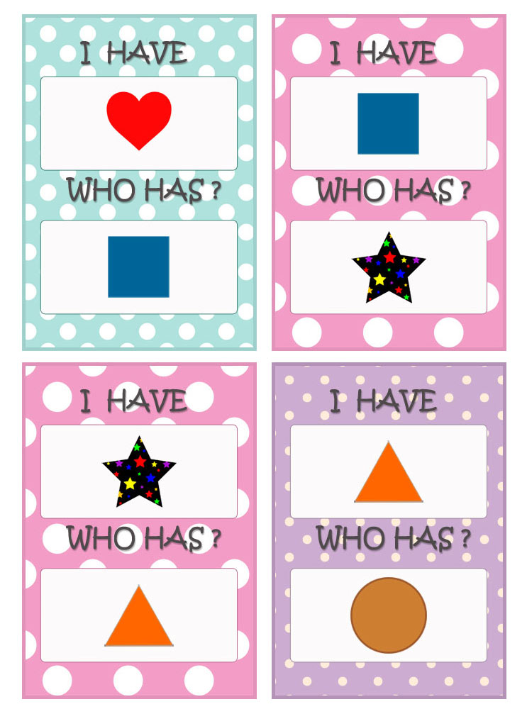 Shapes cards. Game.