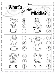fill in letter in the middle animals