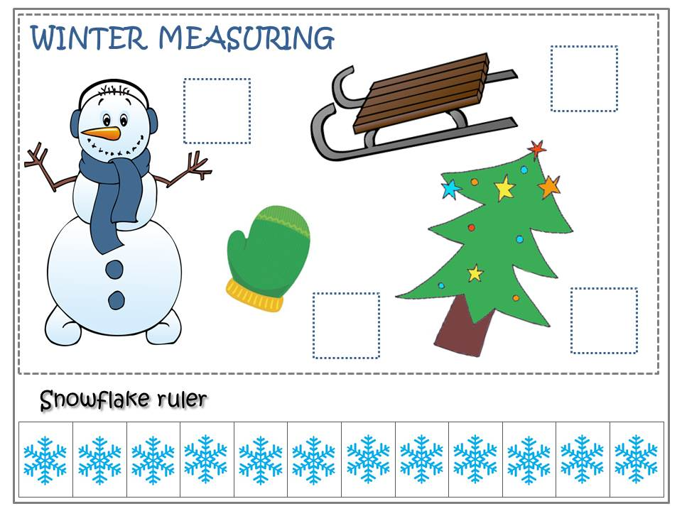 snowflakes measuring colored