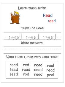learn-trace-write--read