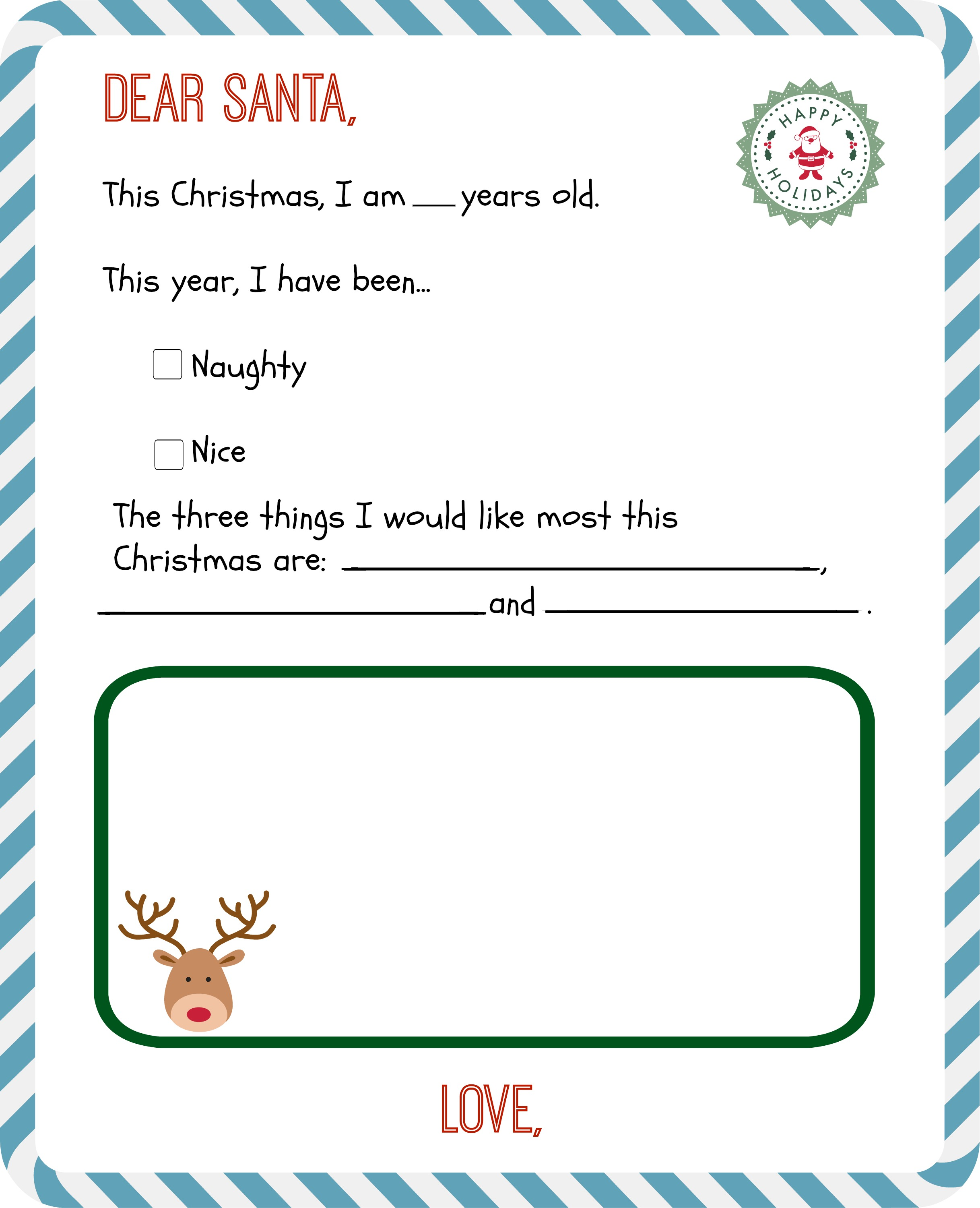 Santa List Template Free Inventory Templates Payslip Format Download  Christmas Letter To Santa Template4 Santa List
