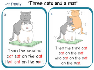 Three cats and one mat story to read 2